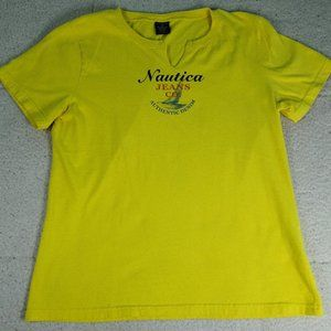 Nautica Jeans Yellow T-Shirt Small